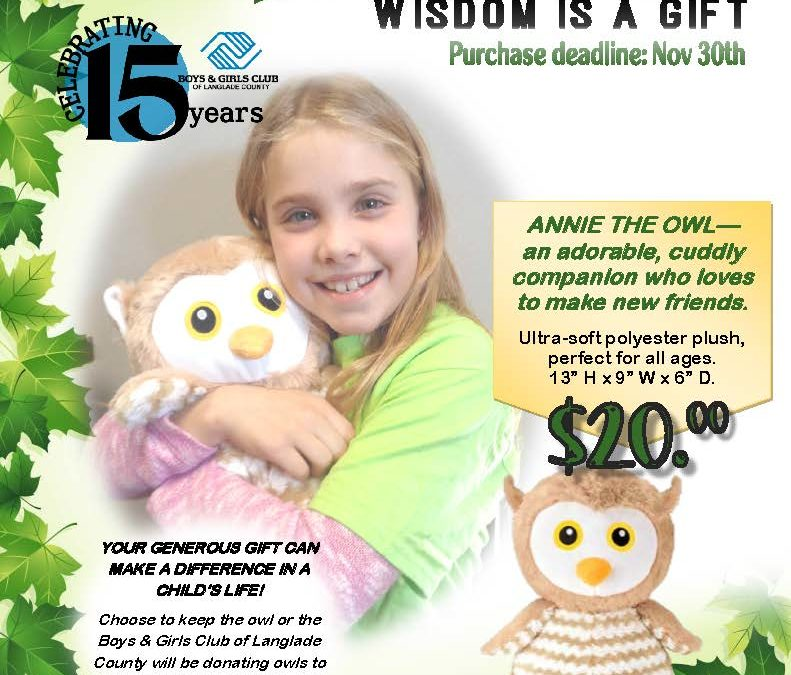 Annie The Owl Fundraiser Flyer Boys & Girls Club of Langlade County